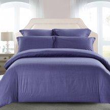 КПБ Tango Color Stripe Страйп-сатин семейный, фиолетовый