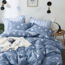 Натуральное двуспальное постельное белье Twill TPIG2-743-50