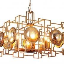 Подвесная люстра Crystal Lux Cuento SP8 Gold