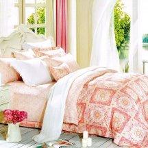 Кпб сатин 2 спальный (розовый орнамент)