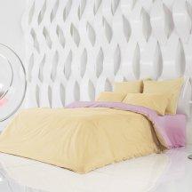Красивое постельное белье Perfection: Солнечный Абрикос + Розовая Лаванда (евро)