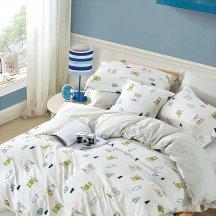 Двуспальное постельное белье сатин 50*70 (совушки)