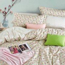 Семейное постельное белье сатин 2 наволочки (пестрые цветы), необычное