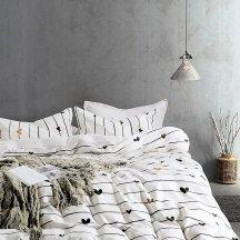 Twill 1,5 спальный (черные сердечки)