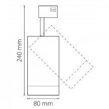 Трековый светодиодный светильник Lightstar Canno Led 303264