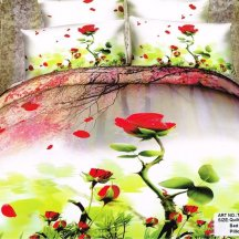 Кпб сатин 2 спальный (опадающая роза)