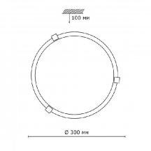 Настенно-потолочный светильник Sonex Duna 153/K хром