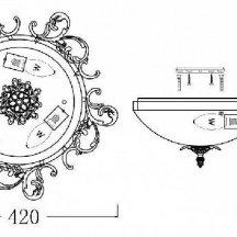 Потолочный светильник Maytoni Speria C900-CL-03-W