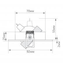 Встраиваемый светодиодный светильник Feron DL2811 32645