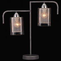 Интерьерная настольная лампа  75066/2T STAIN SILVER