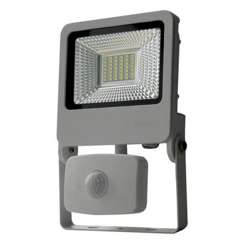 Прожектор уличный  ULF-F37-30W/NW SENSOR IP54 195-240В SILVER картон