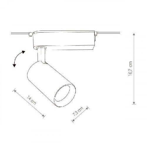 Трековый светодиодный светильник Nowodvorski Profile Iris 9009