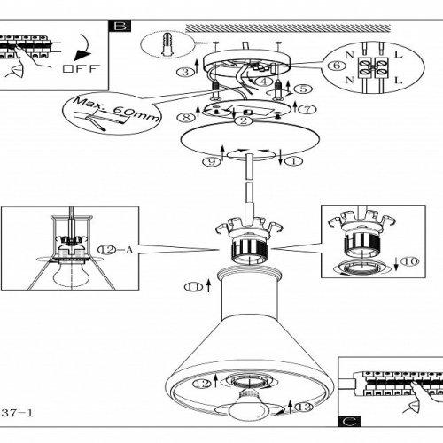 Подвесной светильник Eglo Pascoa 39137
