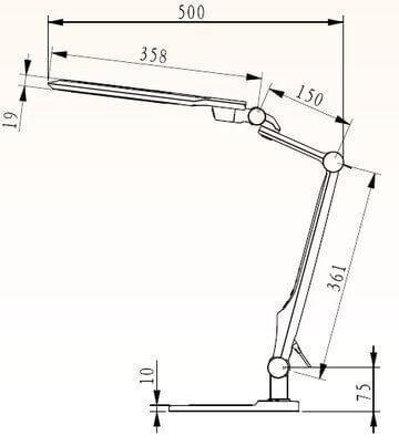 Настольная лампа Horoz Ebru белая 049-010-0010 (HRZ00000683)